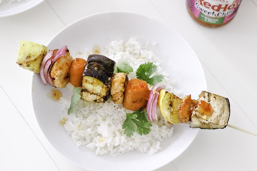 Sweet Chili & Curry Chicken Kabob Recipe