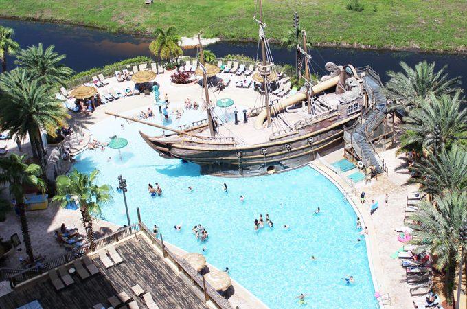 Super cool pirate pool at Lake Buena Vista Resort Village and Spa
