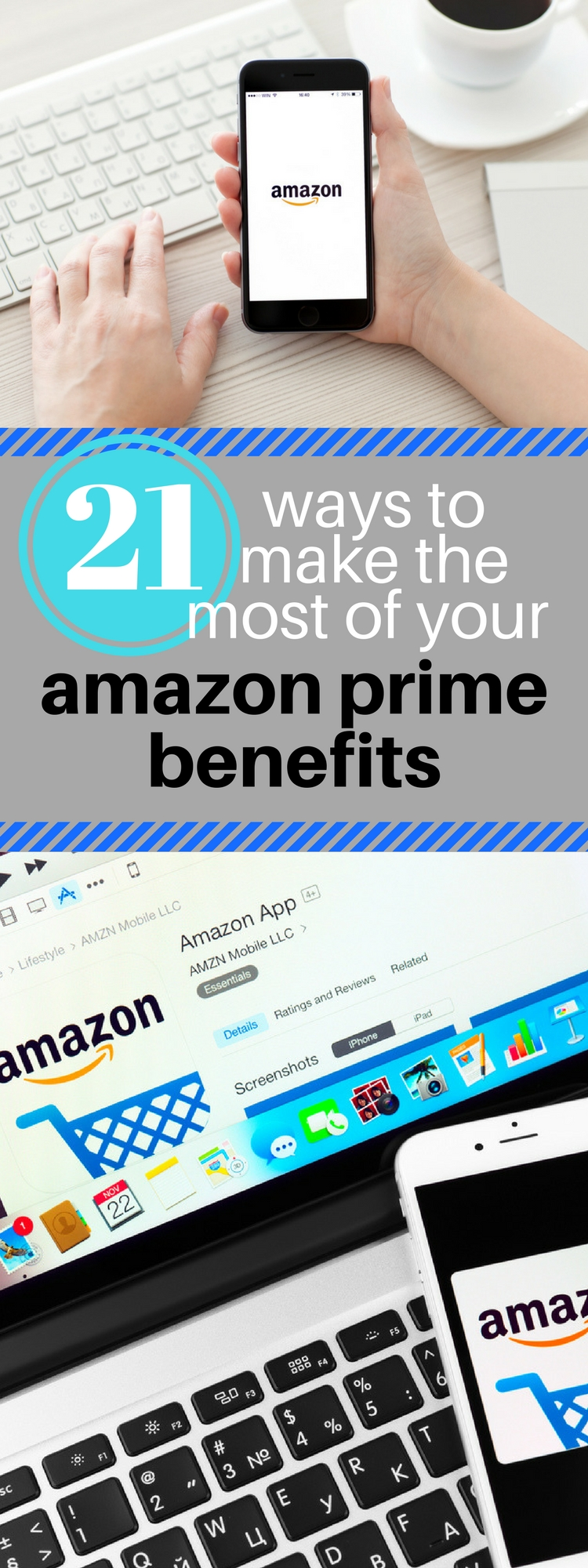 21 Ways to make the most of your Amazon Prime benefits. Get the most out of Amazon Prime. All the benefits of Amazon Prime.