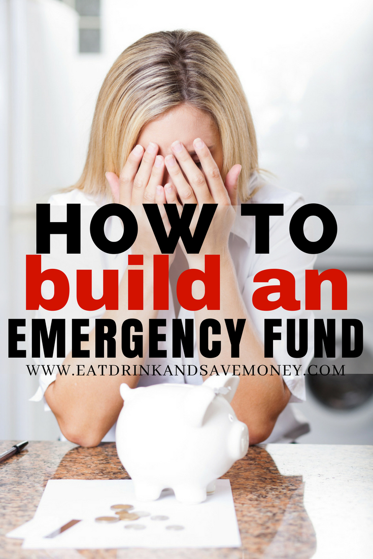 How to build an emergency fund even when you don't have a lot of money. Great ways to save money for emergencies. #finances #frugalliving #savemoney #money