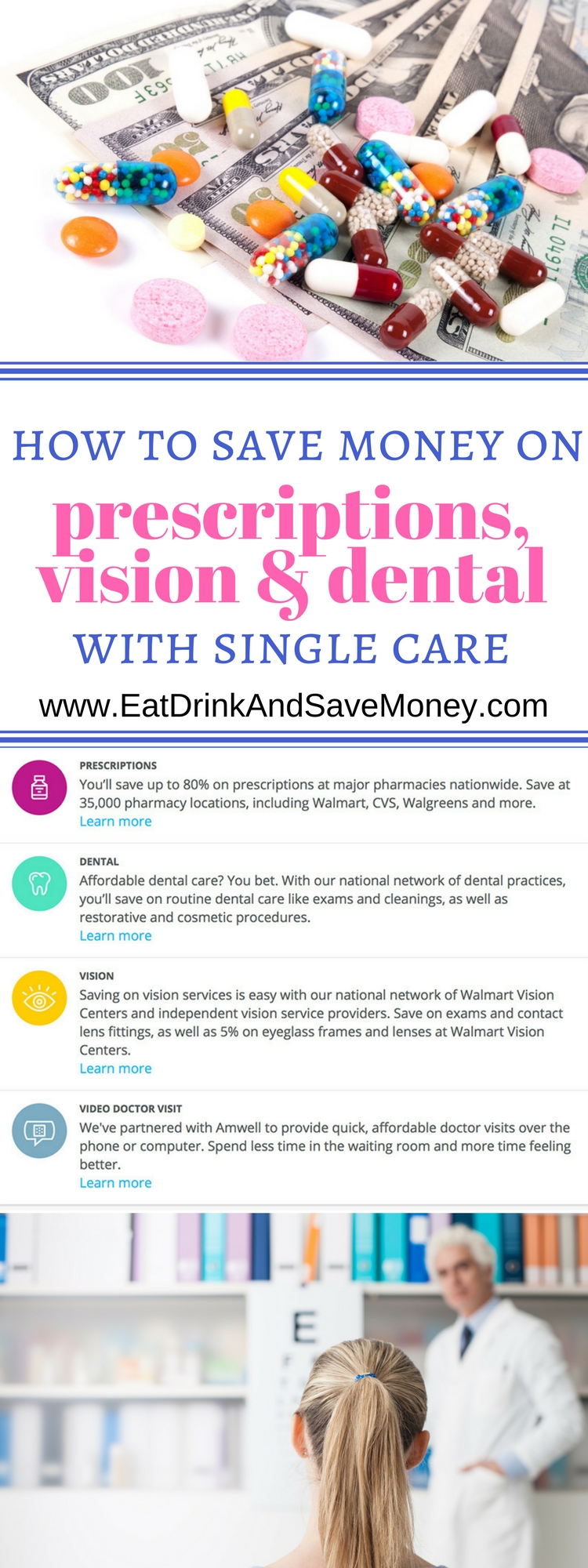 How to save money on prescriptions, vision, & dental with single care