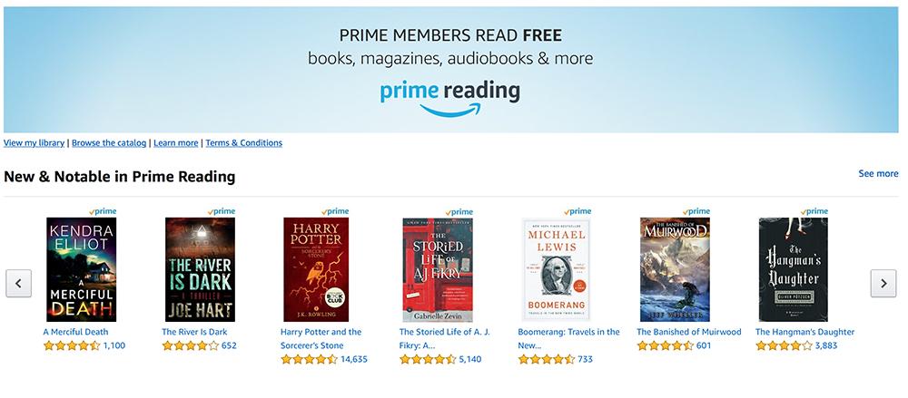 Amazon Prime Benefits- Prime Reading for Amazon Prime