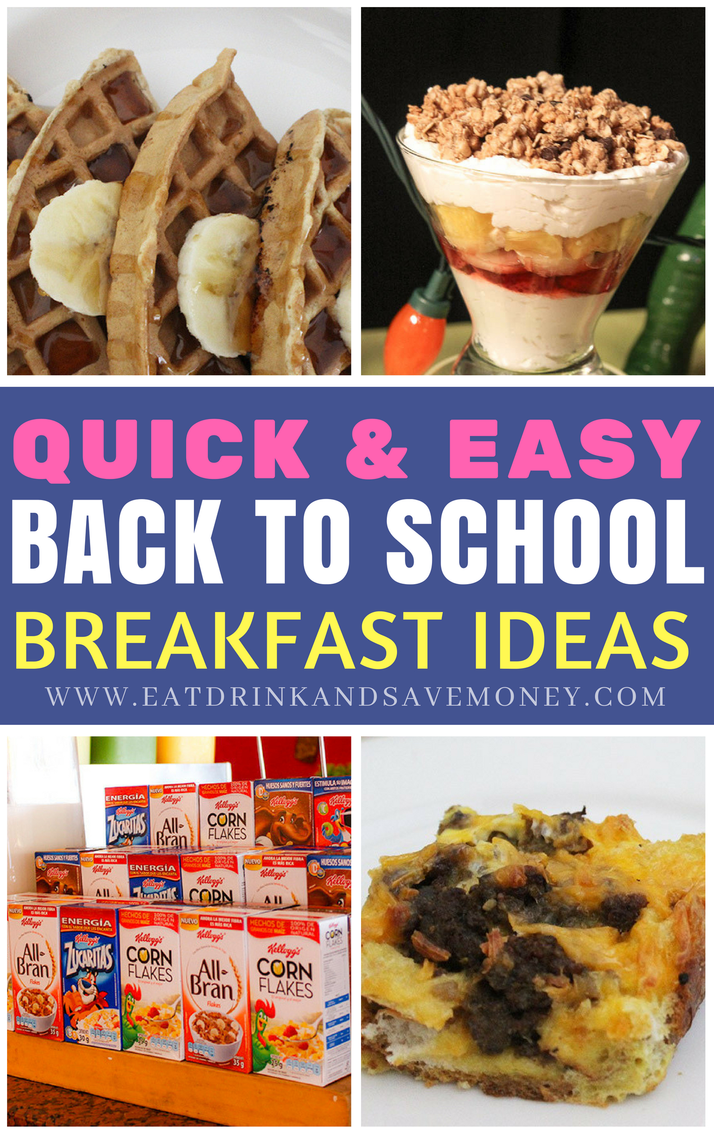 Quick and easy back to school breakfast ideas. Simple breakfast ideas. Easy breakfast ideas. #backtoschool #breakfast #recipes #cooking #family