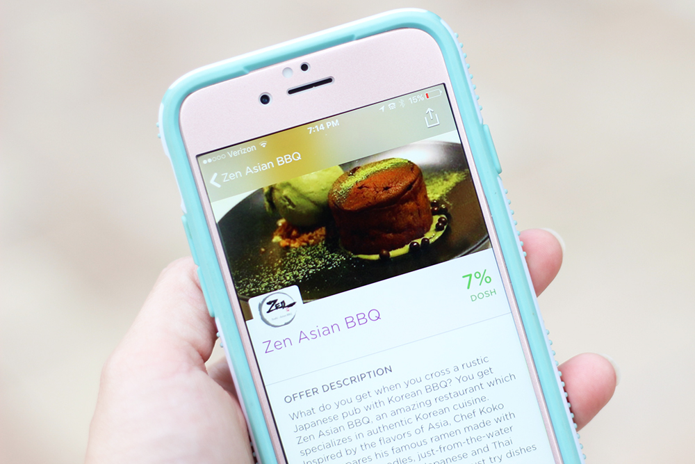 Save money dining out with the dosh app in SWFL at Zen Asian