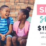 Get $15 off $40 Worth of Schoola Clothing
