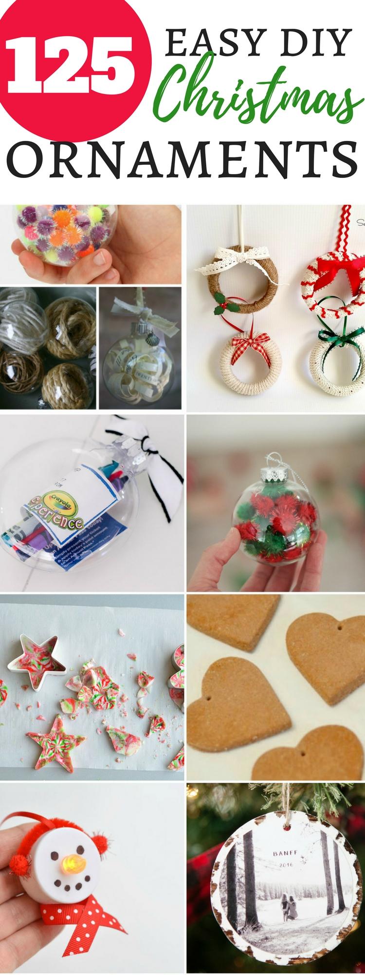 125 easy DIY Christmas ornaments