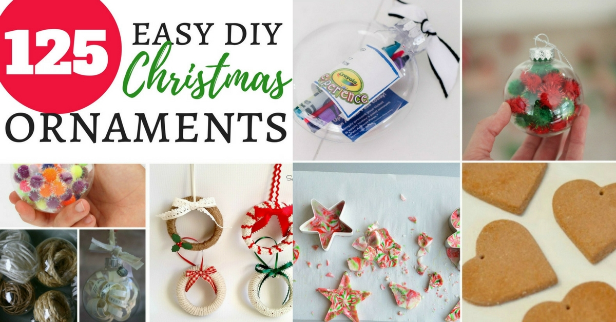 125 easy diy christmas ornaments Facebook