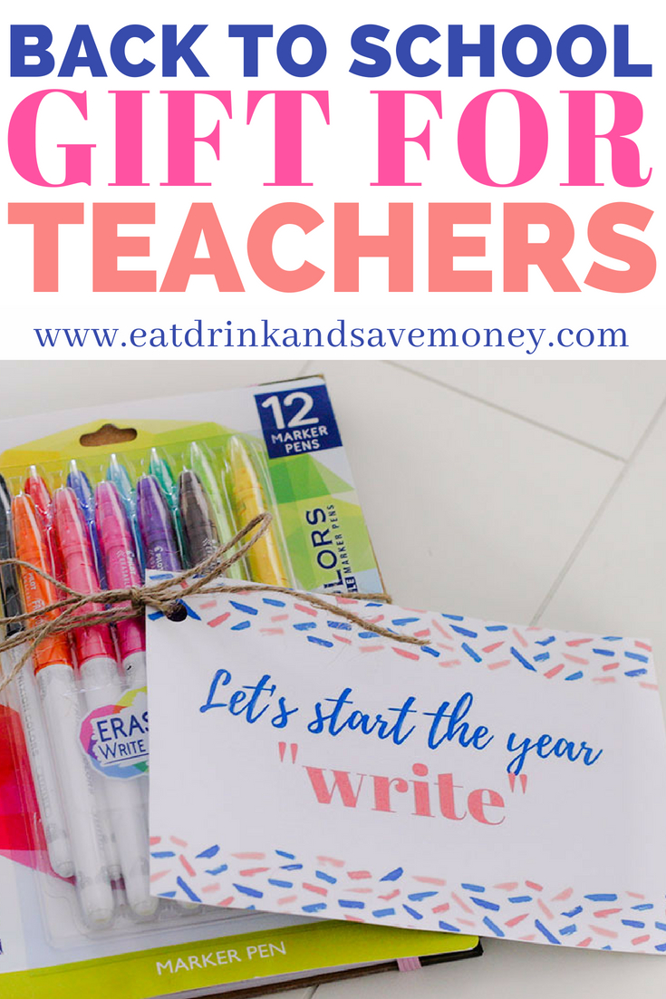 Back to school gift for teachers #backtoschool #freeprintable