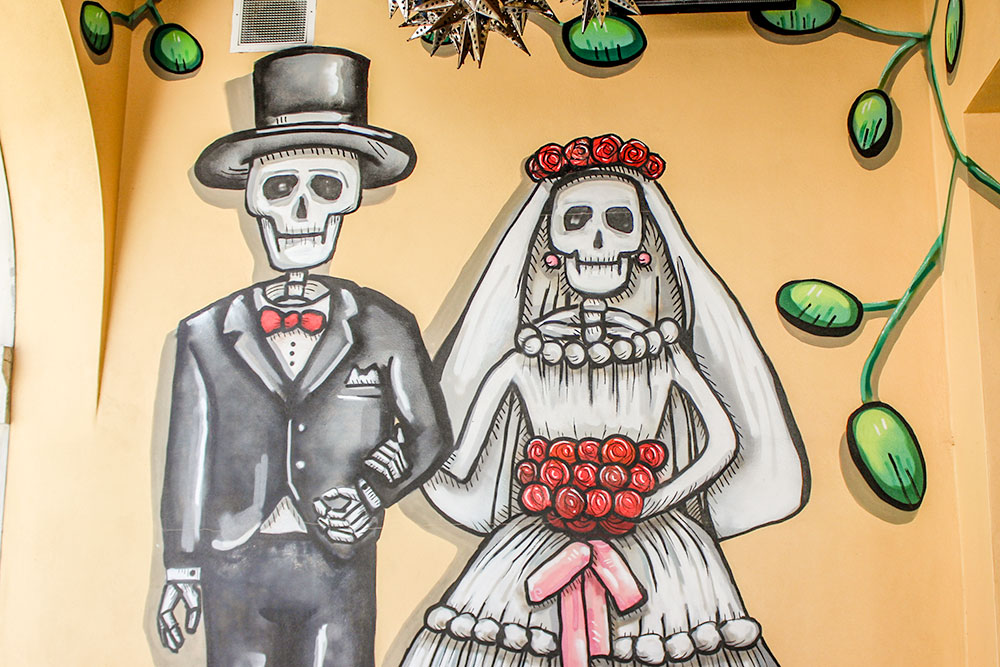 Day of the Dead decor at cabo flats