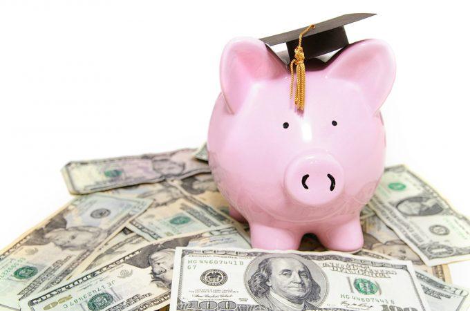 piggy bank loan graduation