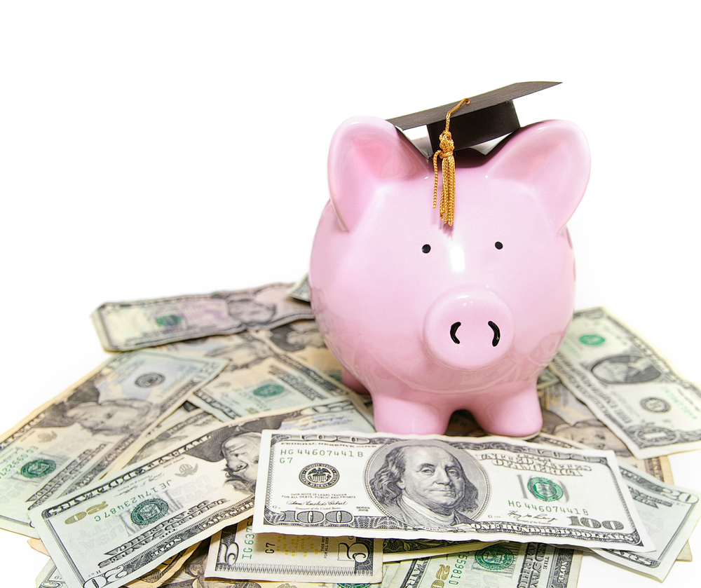 piggy bank loan graduation