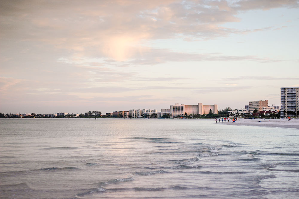 Family travel in Sarasota morning on siesta key