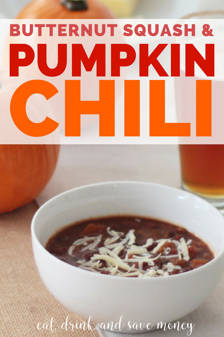 Butternut squash and pumpkin chili recipe | fall recipe #pumpkinchili #pumpkinrecipe