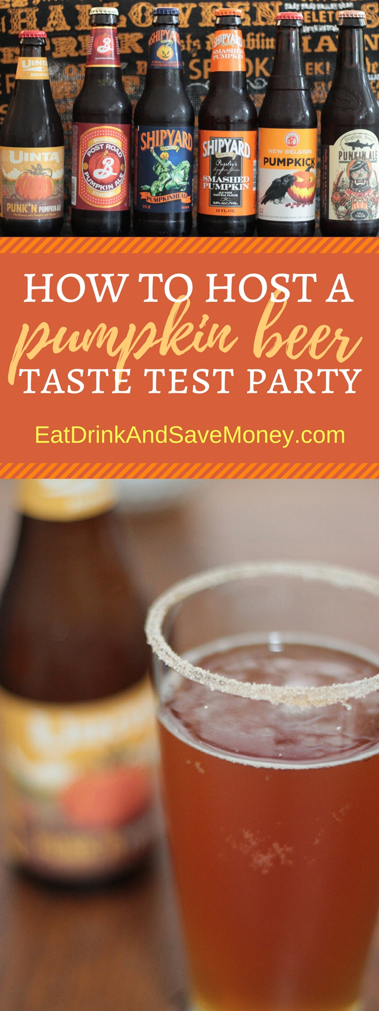 How to host a pumpkin beer taste test party. Follow these tips from a blogger to throw a fun fall party where you taste pumpkin beer.