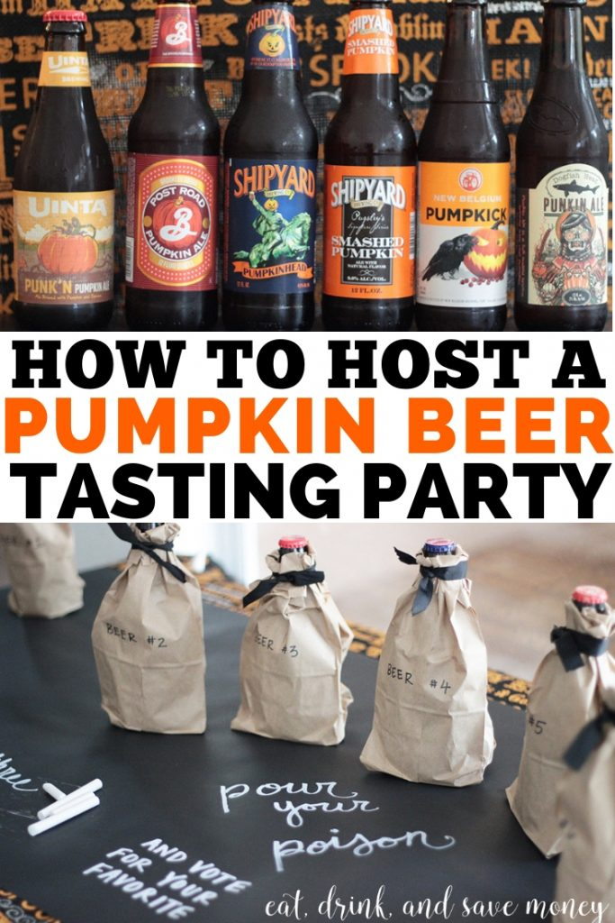 How to host a pumpkin beer tasting party this fall. #pumpkin #pumpkinbeer #beer #fall #happyhour