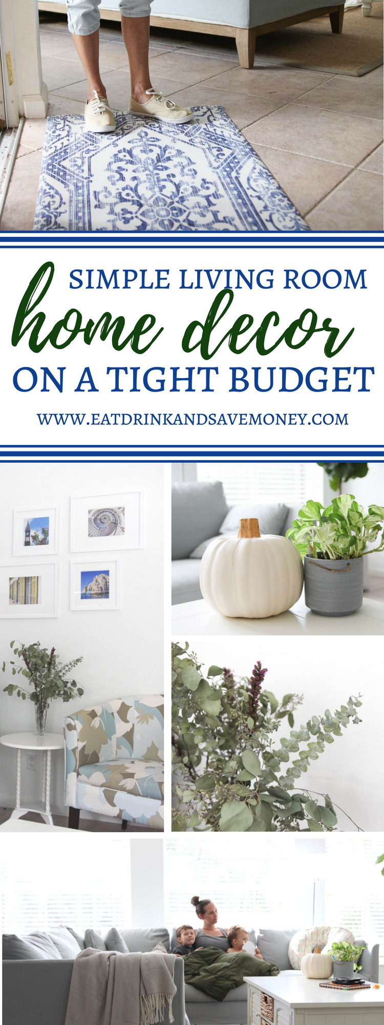 Simple living room home decor on a tight budget | budget home decor.
