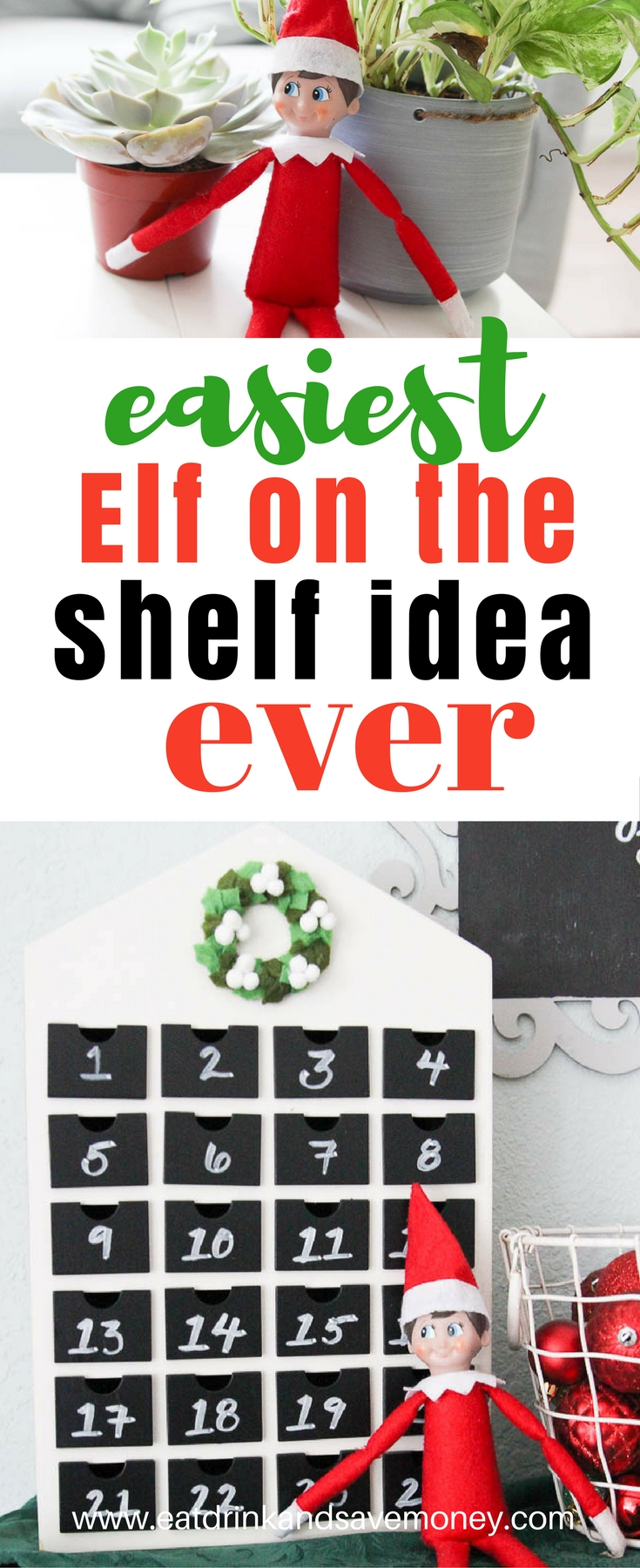 Easiest elf on the shelf idea ever