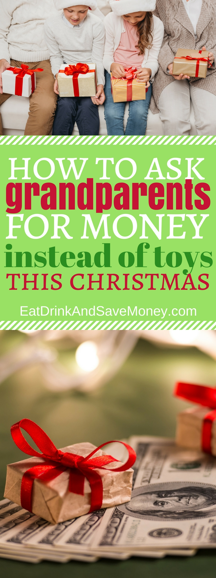 How to ask grandparents for money instead of toys this Christmas #christmas #money #savemoney #toys #holidays #savings #family