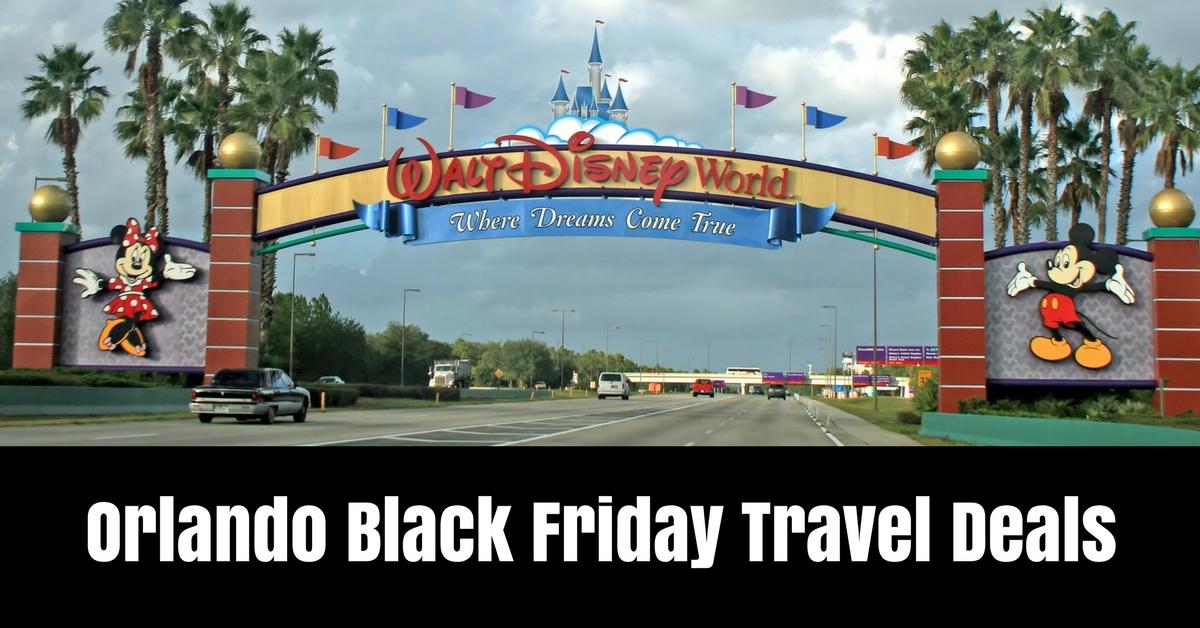 Orlando black friday travel deals
