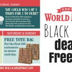 World market black friday deals and freebies