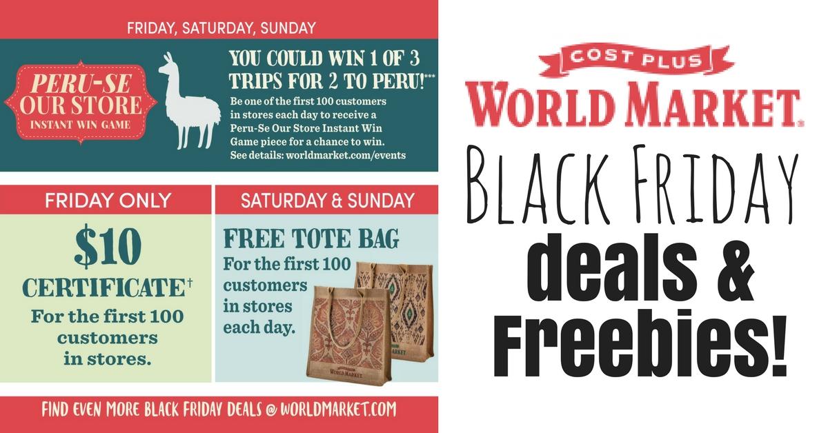 World market black friday deals and freebies