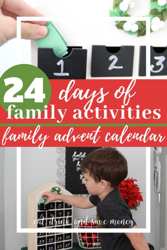 24 Days of Family Activities for a Family Advent Calendar during Christmas
