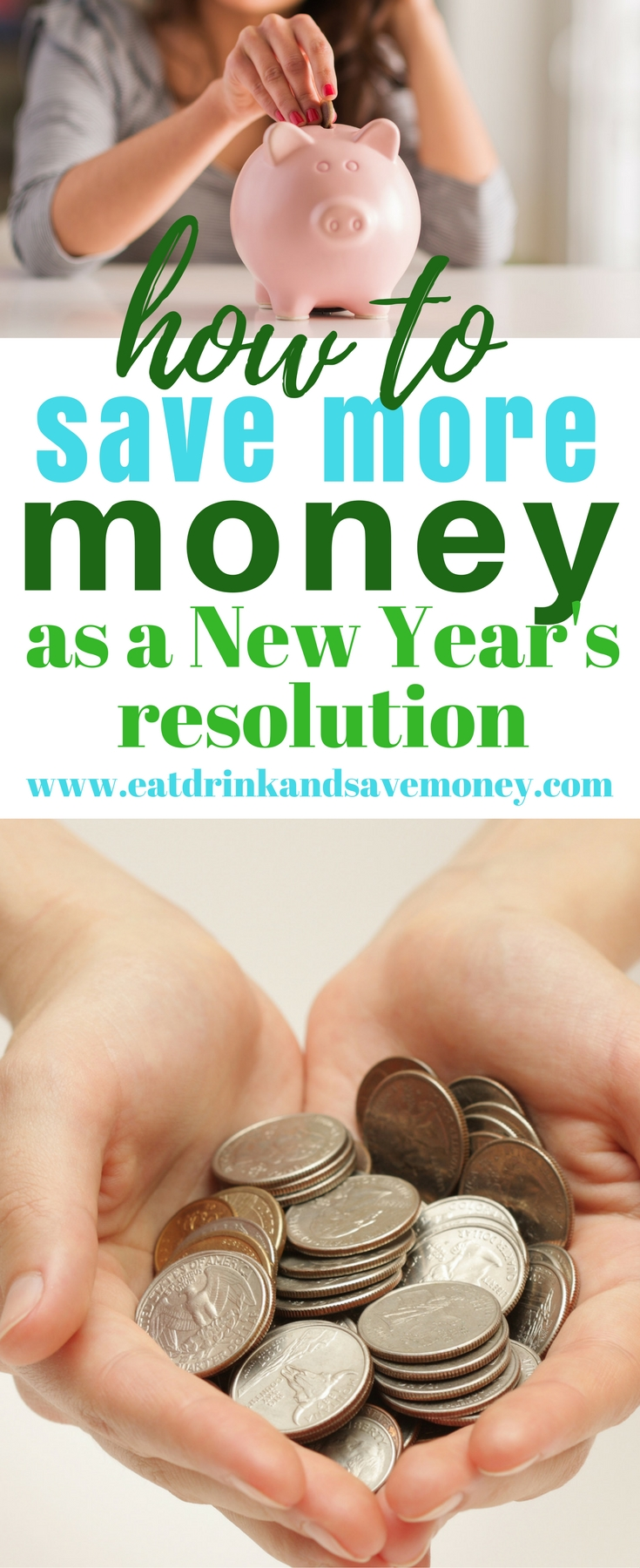 How to save more money in the New Year. New Year's resolution to save money. #savemoney #newyearsresolution #getoutofdebt