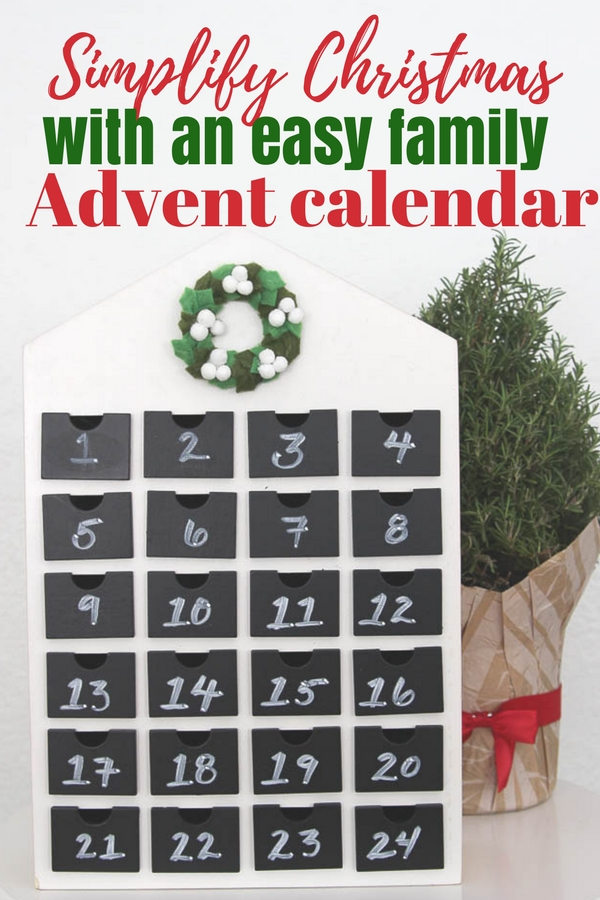 Simplify Christmas with an easy family advent calendar
