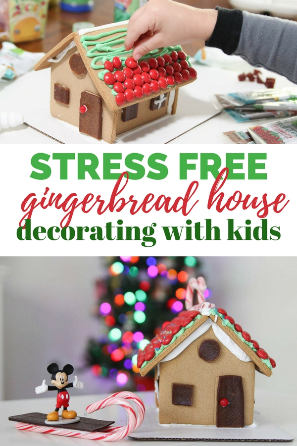 Stress free gingerbread house decorating with kids