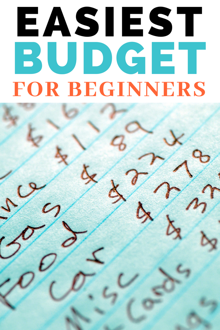 How to budget. The easiest budget for beginners. #budget #saving #savemoney