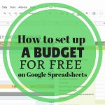 How to set up a budget for free on Google Spreadsheets