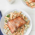 Wild Alaska teriyaki glazed salmon salad recipe