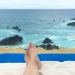 Feet up on vacation in cabo. How to blog for free vacations.