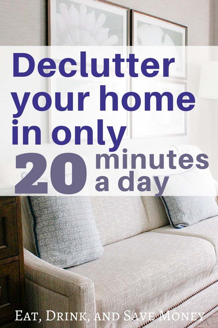 Declutter your home in only 20 minutes a day. This cleaning hack is perfect for spring cleaning and can make your home clutter free.