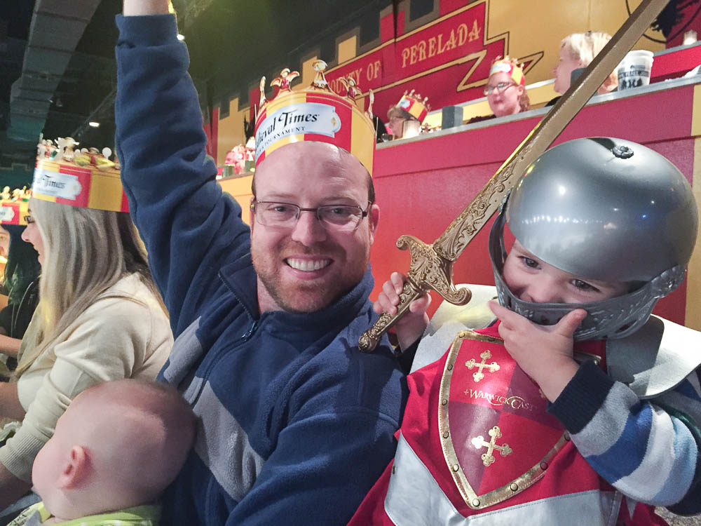 Family time at Medieval Times