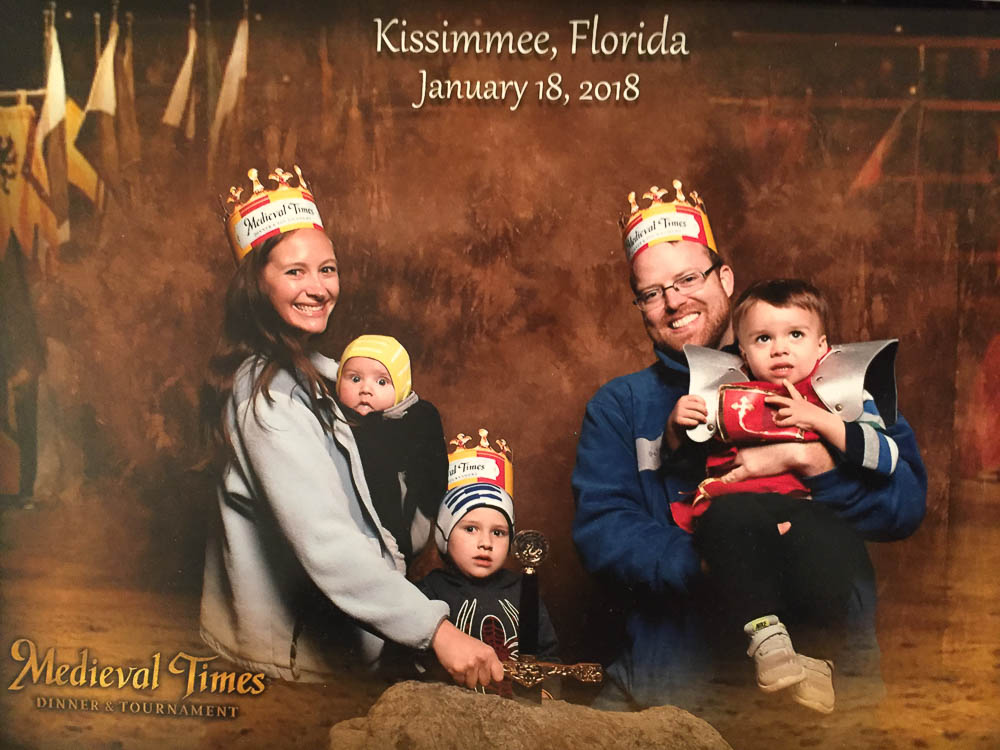 Family photo at Medieval Times