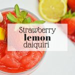 Strawberry lemon daiquiri