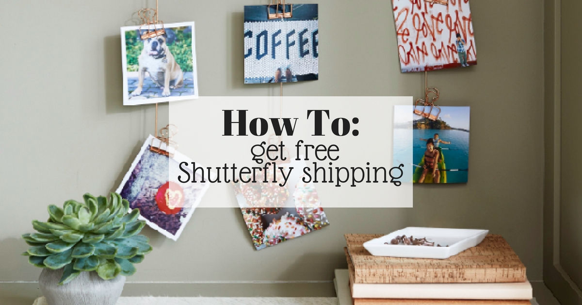shutterfly free shipping on any order