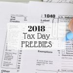 Tax Day Freebies and Deals 2018