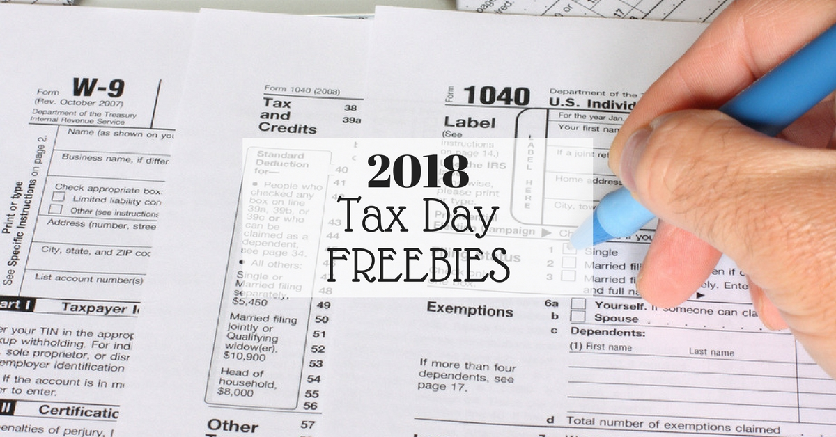 2018 tax day freebies