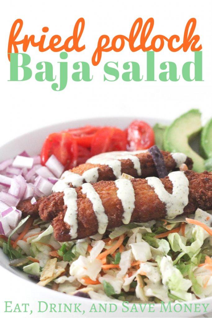 Fried pollock baja salad recipe