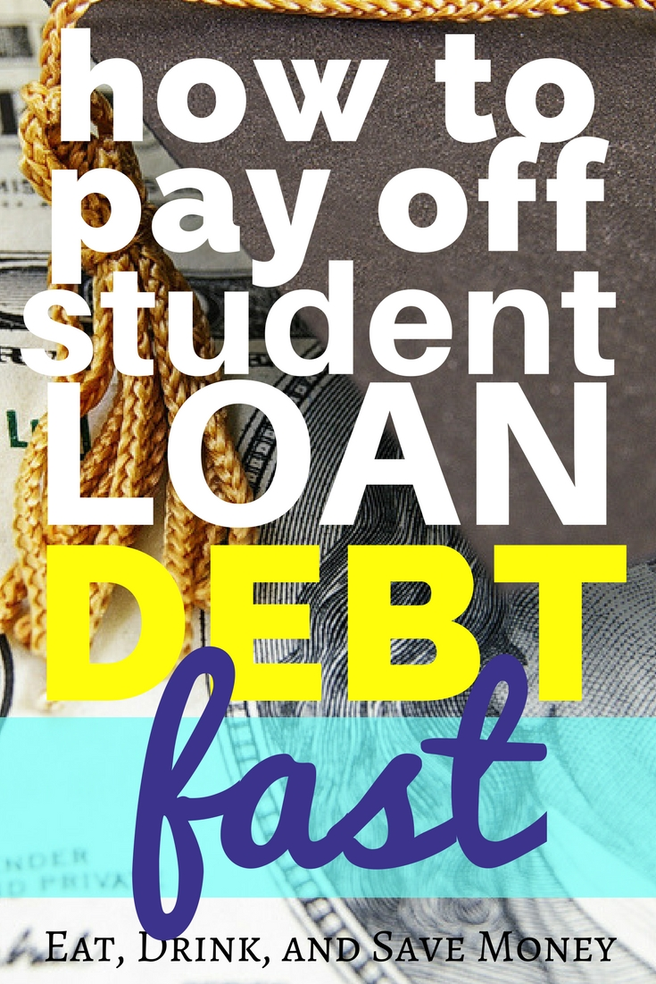 How to pay off student loan debt fast. #debt #finances #loan #personalfinance