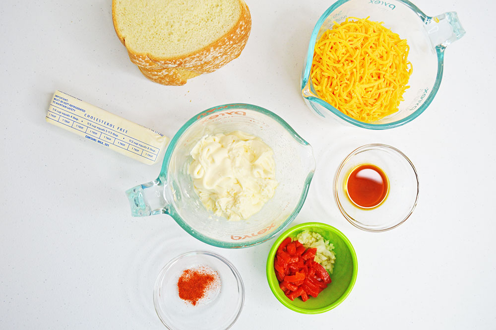 Ingredients for pimento cheese