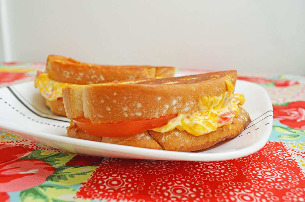 Pimento Grilled Cheese with Tomato