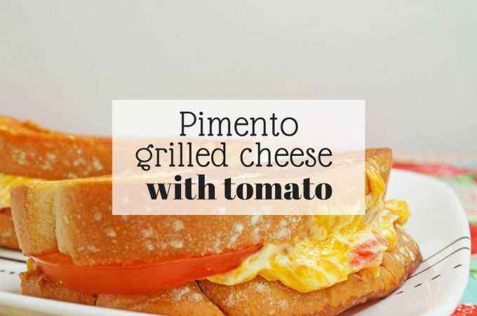 Pimento grilled cheese with a tomato