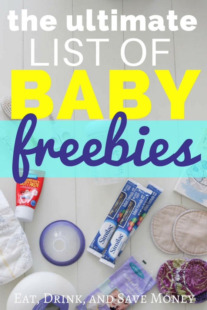 The ultimate list of baby freebies. Get free stuff for baby. Free stuff for new moms. #newmoms #freebie