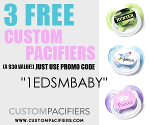 free baby stuff free custom pacifiers