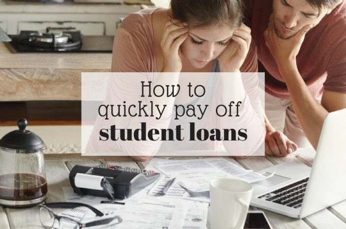 how to quickly pay off student loans