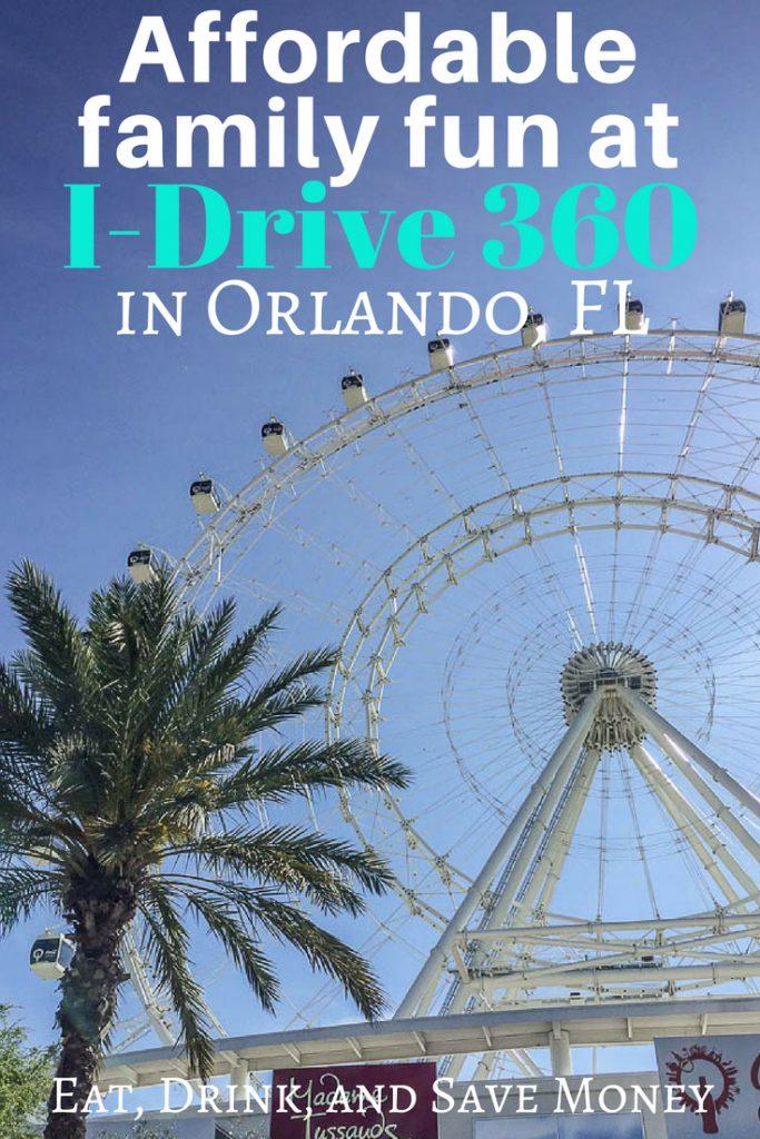 Affordable family fun at I-drive 360 in Orlando, FL. #familytravel #travel #orlando #funforkids