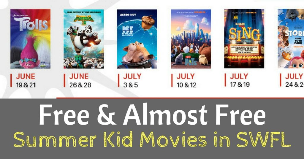 Free & Almost Free Summer Kid Movies in SWFL
